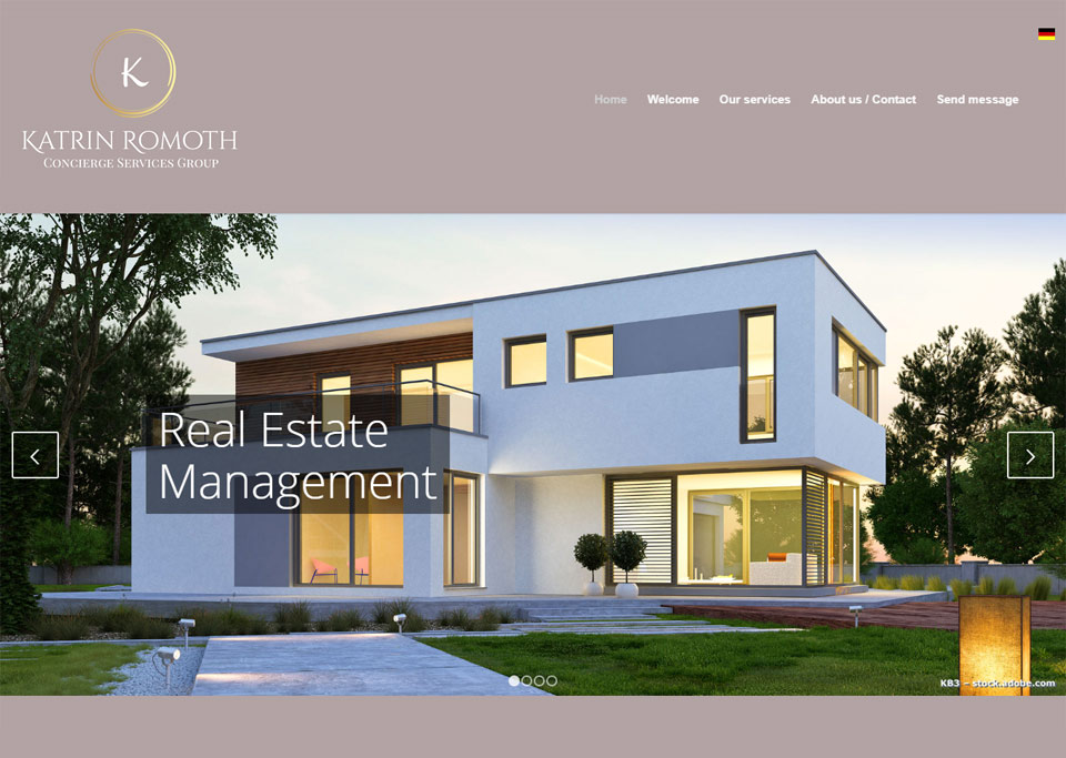 Homepage-Erstellung für Katrin Romoth Concierge Services Group, 90765 Fürth