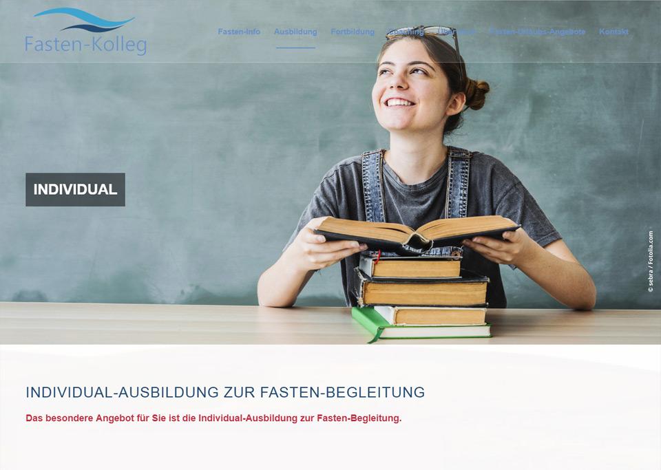 Webdesign / Website-Erstellung für Fasten-Kolleg, 90766 Fürth