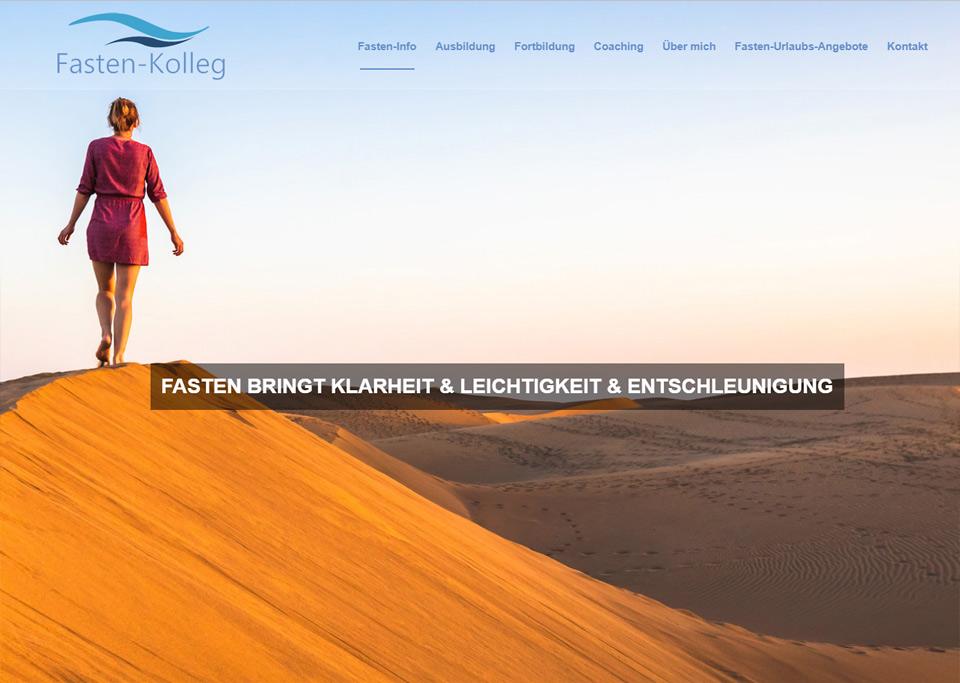 Homepage-Erstellung für Fasten-Kolleg, Ellen Schrank, 90766 Fürth