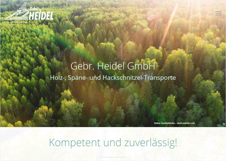 Homepage-Erstellung für Gebr. Heidel GmbH, 91483 Oberscheinfeld