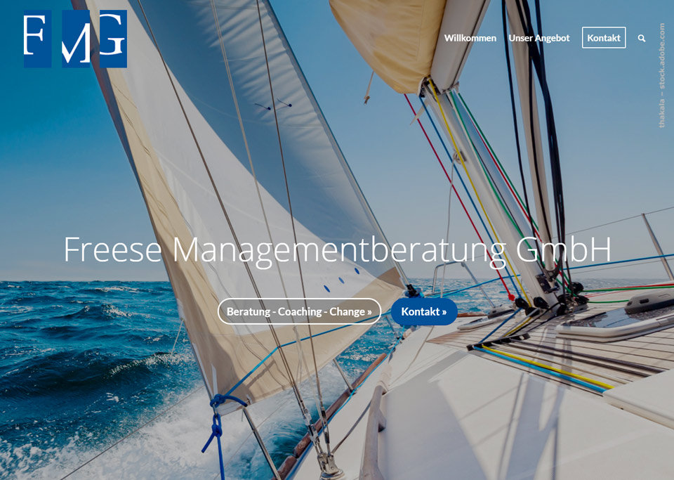 Homepage-Erstellung für Freese Managementberatung GmbH, 90419 Nürnberg