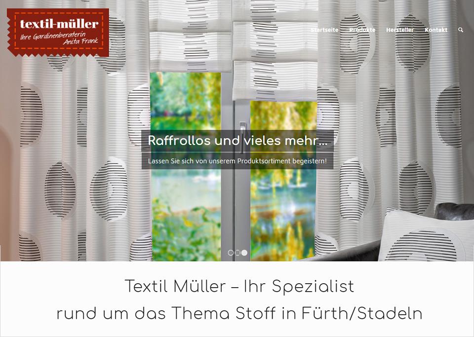 Homepage-Erstellung für Textil Müller, 90765 Fürth