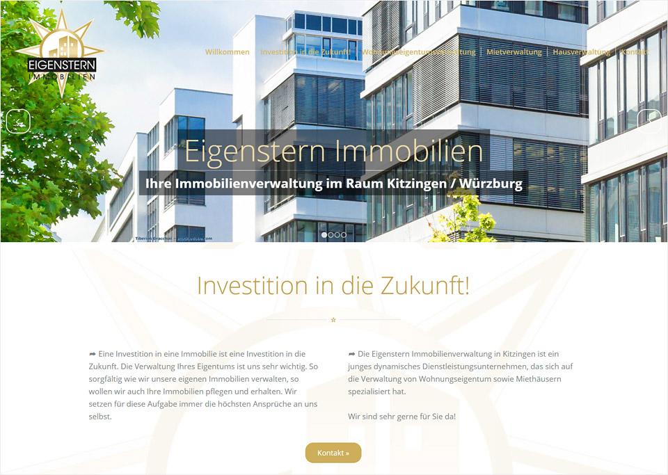 Homepage-Erstellung für Eigenstern-Immobilien, Dafina Sabani, 97318 Kitzingen