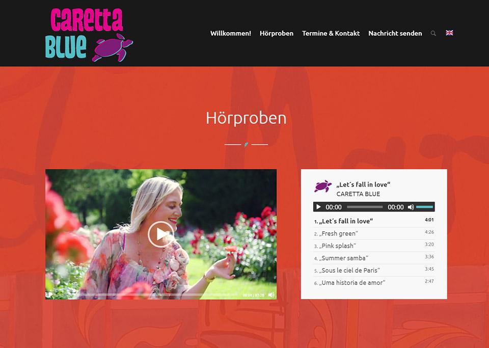 Homepage-Erstellung für Caretta Blue, Rainer Kramer, 90765 Fürth