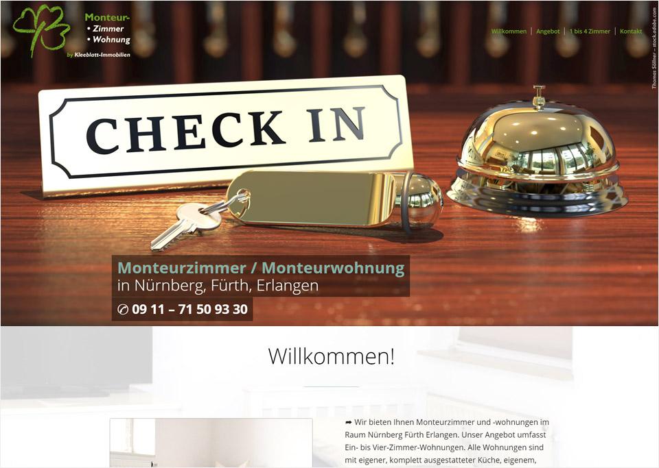 Homepage-Erstellung für Bernhart Immobilien und HV GmbH, 90762 Fürth