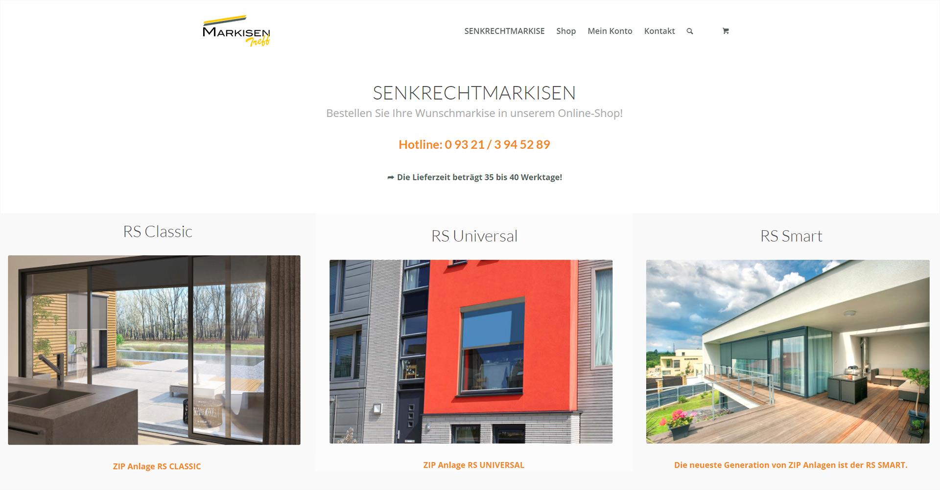 Online-Shop für Markisentreff, 97318 Kitzingen