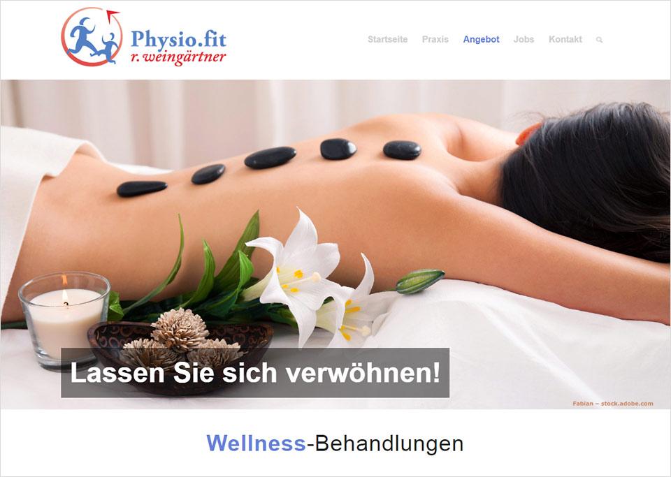 Homepage-Erstellung für Praxis für Physiotherapie, Roland Weingärtner, 90522 Oberasbach