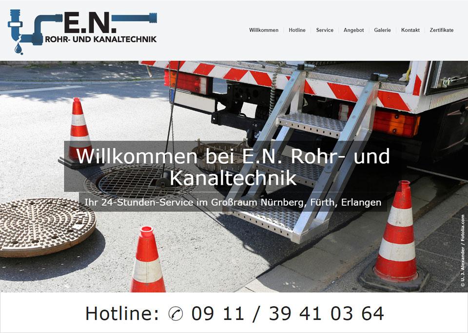Homepage-Erstellung für E.N. Rohr- und Kanaltechnik, 90765 Fürth