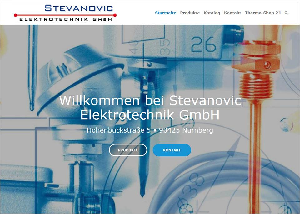Homepage-Erstellung für Stevanovic Elektrotechnik GmbH, 90425 Nürnberg
