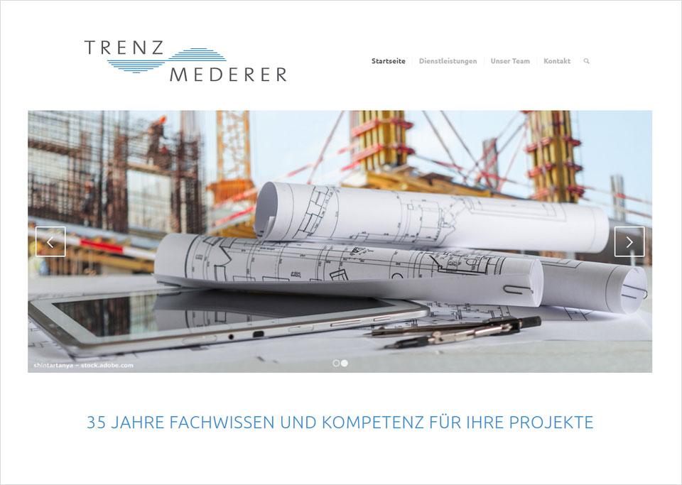 Homepage-Erstellung für Trenz & Mederer Ingenieurgesellschaft mbH, 90482 Nürnberg