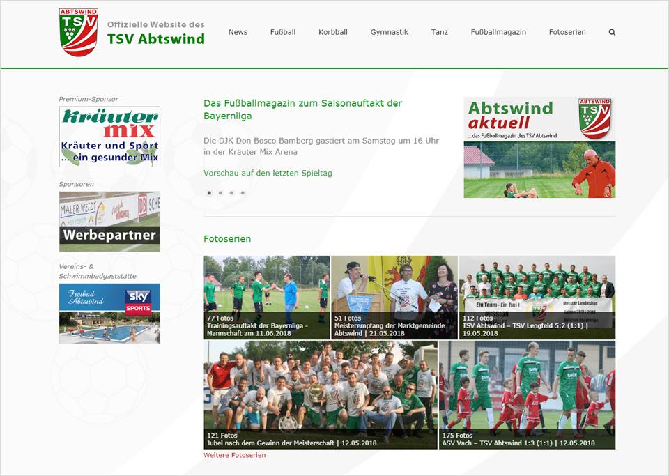 Homepage-Erstellung für TSV Abtswind e. V., 97355 Abtswind