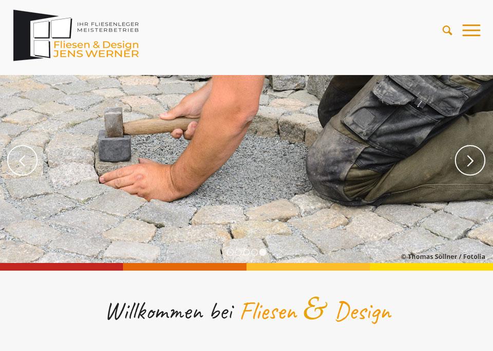 Webdesign / Website-Erstellung für Fliesen & Design Jens Werner, 97528 Sternberg