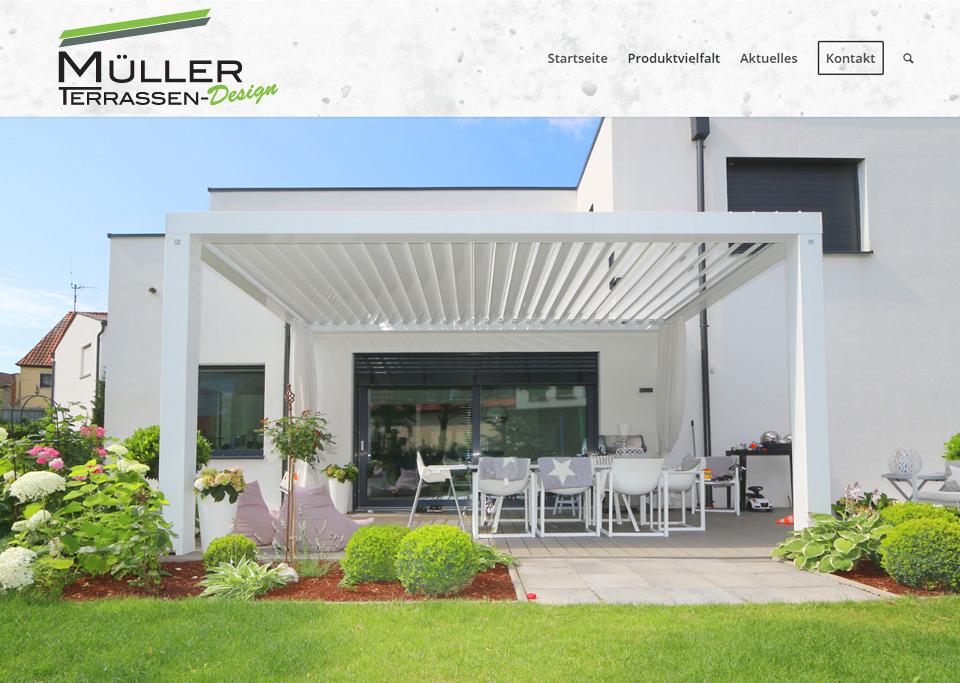 Webdesign / Website-Erstellung für Müller Terrassen-Design GmbH, 97318 Kitzingen