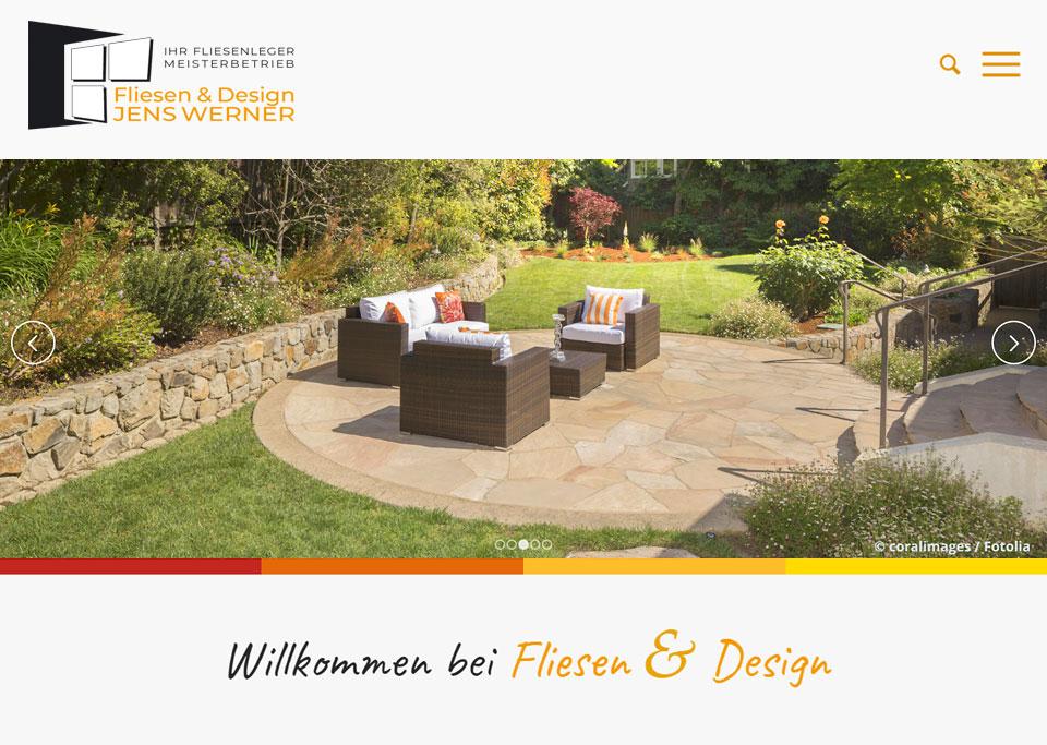 Homepage-Erstellung für Fliesen & Design, Jens Werner, 97528 Sternberg